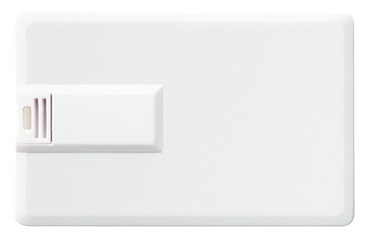 Branded loaded usb flash drive credit card white