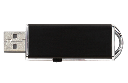 Data locked printed usb flash drive slider black