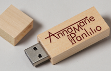 Wood Block USB with Print