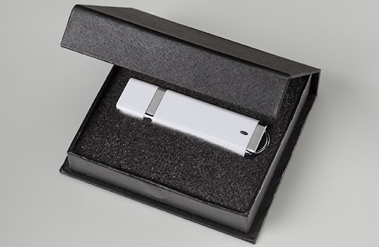 Branded gift box package flash drive usb black