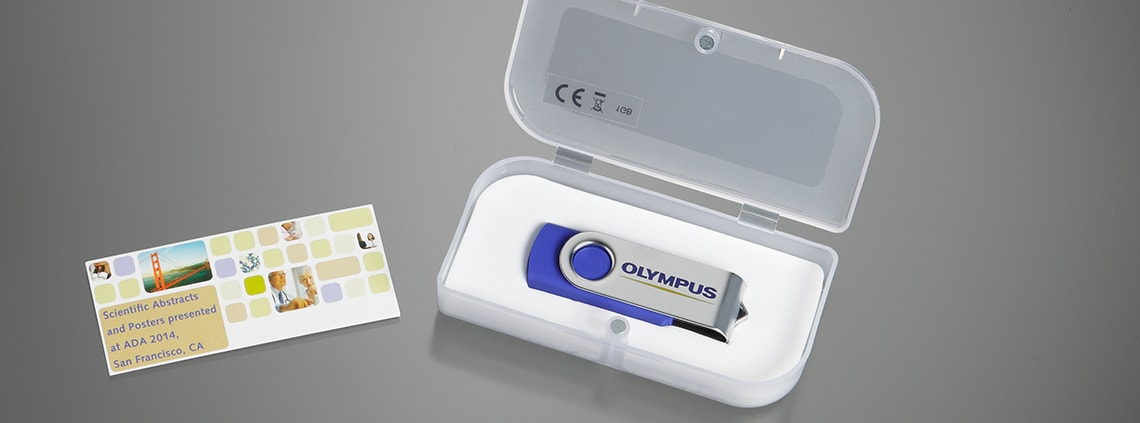 Promotional Flash Drive Swivel Blue With Logo And Box