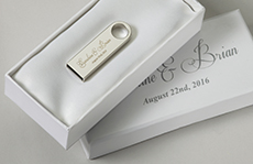 Wedding Favor USB With White Box