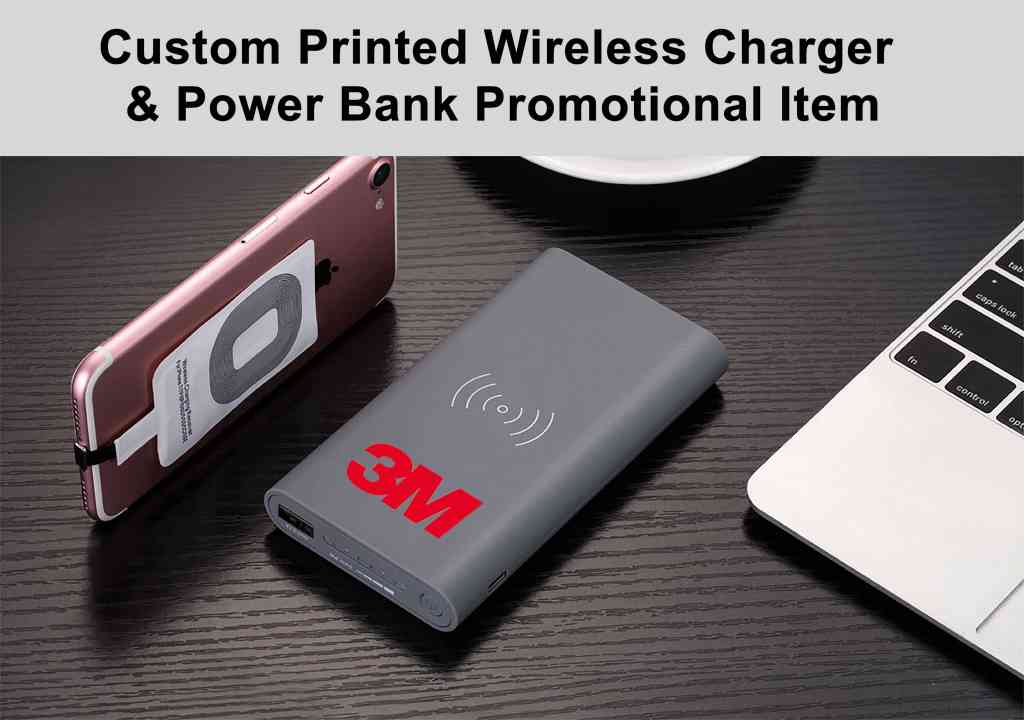 Wireless Charger Power Bank Custom Printed